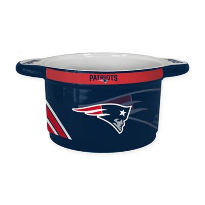 NFL New England Patriots Sculpted Ceramic Gametime Bowl