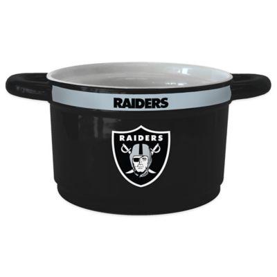NFL Oakland Raiders Sculpted Ceramic Gametime Bowl