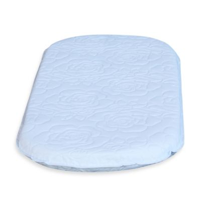 Colgate Mattress Oval Bassinet Mattress in White