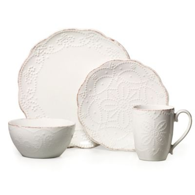 Gourmet Basics by Mikasa® Serena 16-Piece Dinnerware Set in White