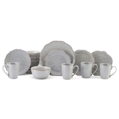 Gray Dinnerware 16 Piece Set