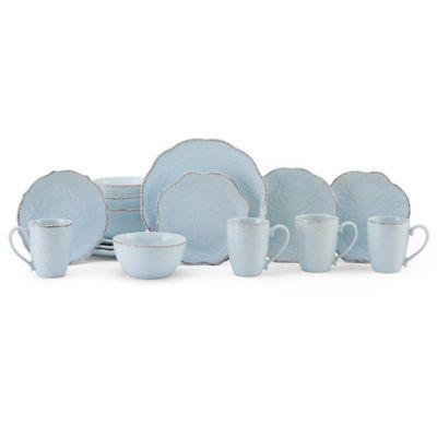 Gourmet Basics by Mikasa® Serena 16-Piece Dinnerware Set in Blue