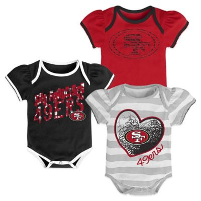 NFL Size 18M San Francisco 49ers 3-Pack Bodysuit Set