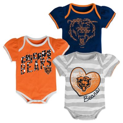 NFL Chicago Bears 3-Pack Bodysuits