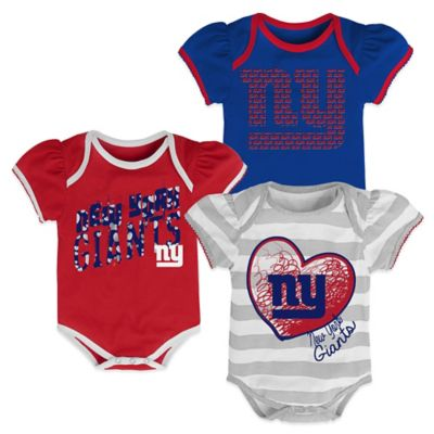 NFL New York Giants Size 24M 3-Pack Creepers