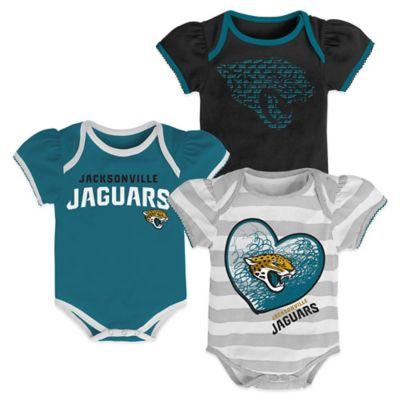 NFL Jacksonville Jaguars 3-Pack Bodysuit Set