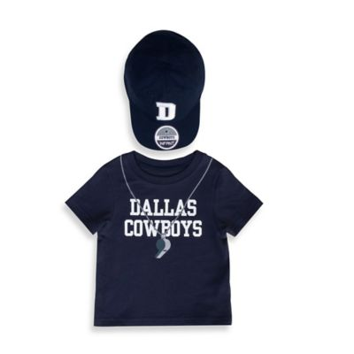 NFL Size 4T 2-Piece Dallas Cowboys Short-Sleeved Jersey Tee with Hat