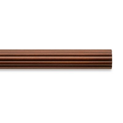 Cambria® Classic Wood Decorative 4-Foot Fluted Drapery Pole in Medium Brown