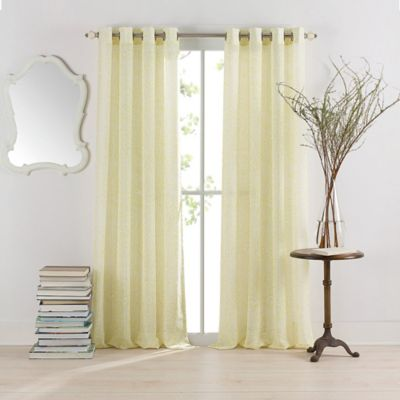 Anthology™ Serena Grommet 63-Inch Window Curtain Panel in Yellow