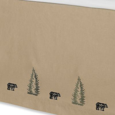 Donna Sharp Bear Creek King Bed Skirt