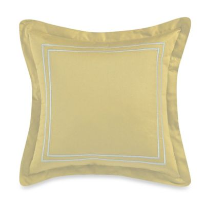 Wamsutta® Baratta Stitch 18-Inch Square Toss Pillow in Butter