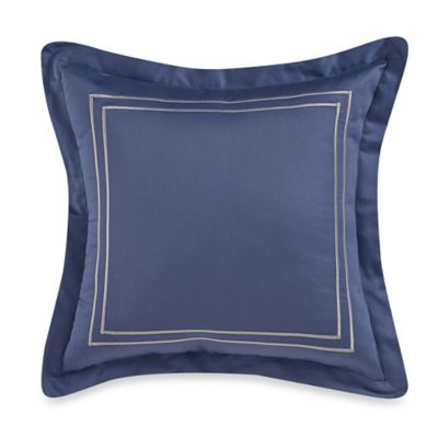 Wamsutta® Baratta Stitch Square Toss Pillow in Blue Jean