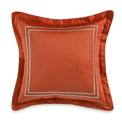 Wamsutta® Baratta Stitch 18-Inch Square Toss Pillow in Coral