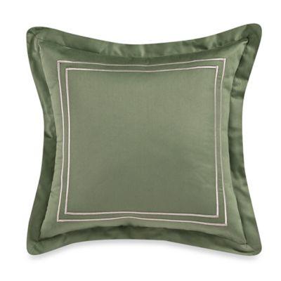 Wamsutta® Baratta Stitch 18-Inch Square Throw Pillow in Sage