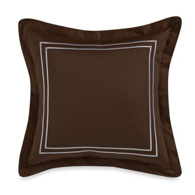 Wamsutta® Baratta Stitch 18-Inch Square Toss Pillow in Chocolate