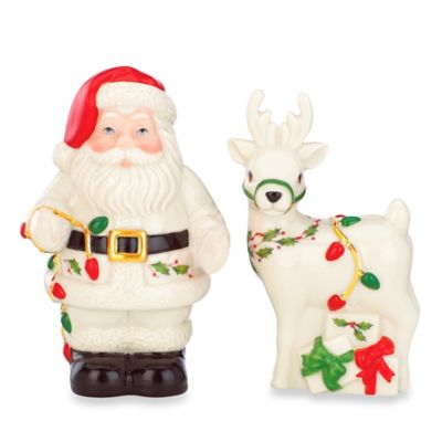Lenox® Holiday™ Santa with Reindeer Salt and Pepper Shakers