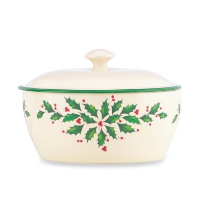 Lenox® Holiday™ 32 oz. Covered Casserole Dish