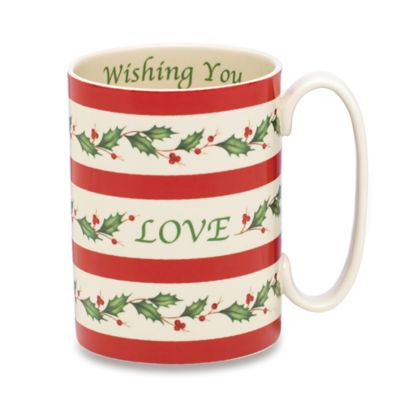 Lenox® Holiday™ 12 oz. Wishing You Love Mug