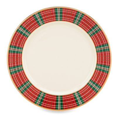Lenox® Winter Greetings® Plaid Bread and Butter Plate