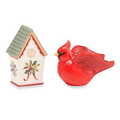 Lenox® Winter Greetings® Cardinal and Birdhouse Salt and Pepper Shaker Set
