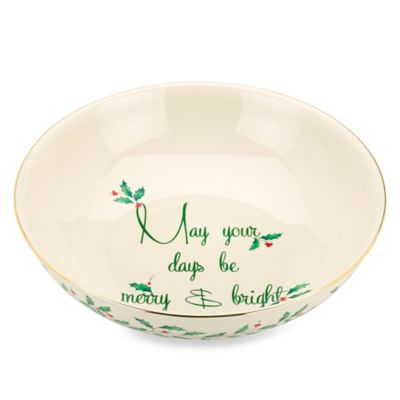 "Lenox® Holiday™ ""May Your Days Be Merry and Bright"" Bowl"