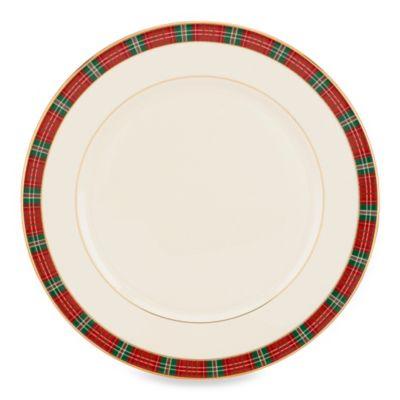 Lenox® Winter Greetings® Plaid Dinner Plate