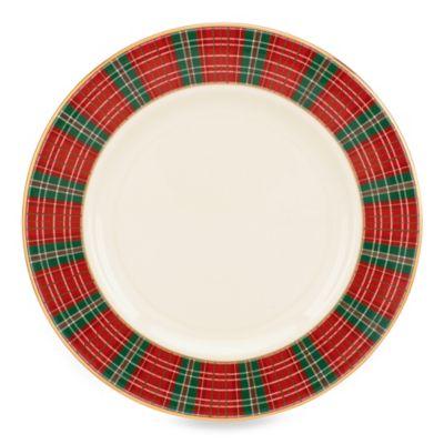 Lenox® Winter Greetings® Plaid Salad Plate