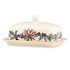 Lenox® Winter Greetings® Covered Butter Dish