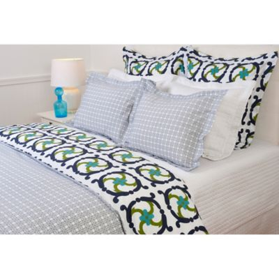 COCOCOZY Plaid Standard Pillow Sham in Navy
