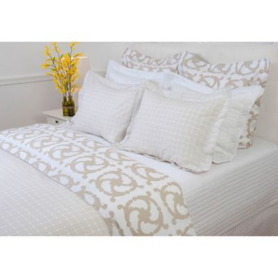 COCOCOZY Katie Reversible Queen Duvet Cover in Taupe