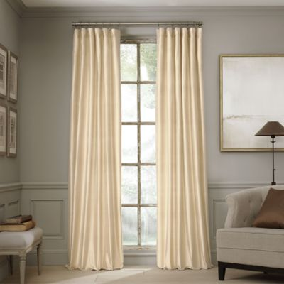 Valeron Estate 95-Inch Silk Window Curtain Panel in Pearl