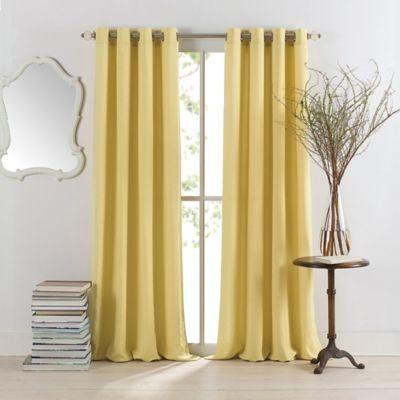 Anthology™ Sienna 108-Inch Window Curtain Panel in Citrine