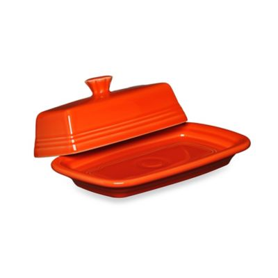 Fiesta® Extra-Large Covered Butter Dish in Poppy
