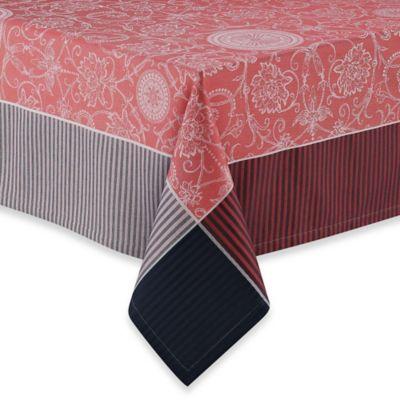 Garnier-Thiebaut Appoline Flamant 69-Inch x 69-Inch Tablecloth