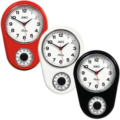 Jones® Clocks Timer Wall Clock in White