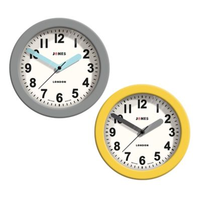 Jones® Clocks Fab Wall Clock in Grey