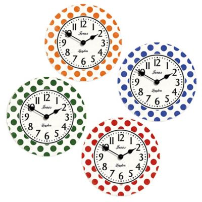Orange Clock Wall Clocks