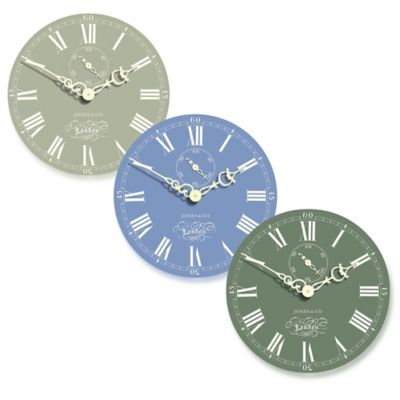 Jones® Clocks Darwin Wall Clock in Blue
