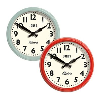 Jones® Clocks Apollo Wall Clock in Duck Egg Blue