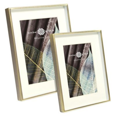 Swing Design™ 4-Inch x 6-Inch Brass Deep Picture Frame