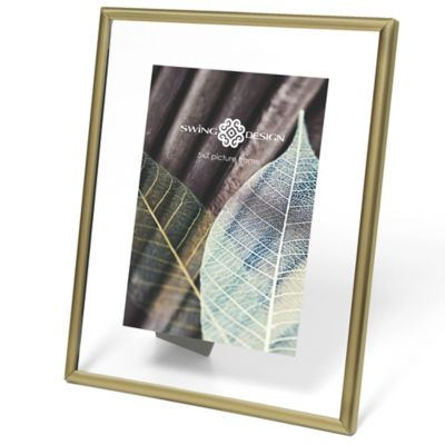 Swing Design Brass Float 5-Inch x 7-Inch Picture Frame