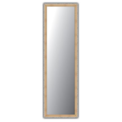Over-the-Door Mirror in Natural & Pewter Finish