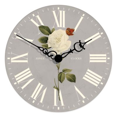 Jones® Edgeware Rose Wall Clock