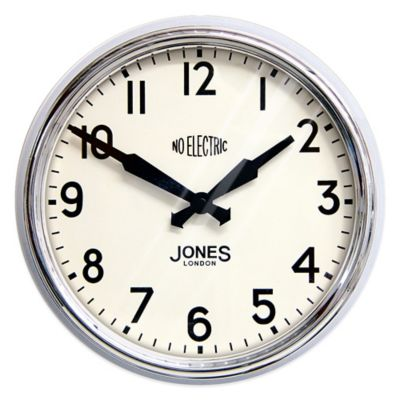 Jones® Clocks Apollo Wall Clock in Chrome