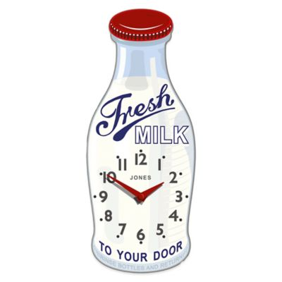 Jones® Clocks Milk Bottle Wall Clock