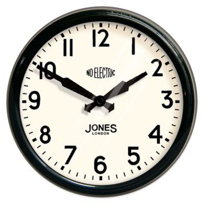 Jones® Clocks Apollo Wall Clock in Black