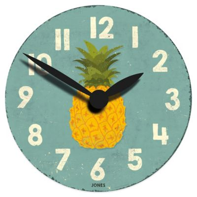 Jones® Clocks Fruity Pineapple Wall Clock