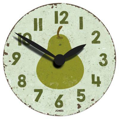 Jones® Clocks Fruity Pear Wall Clock