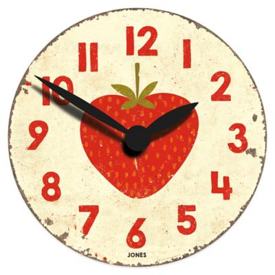 Jones® Clocks Fruity Strawberry Wall Clock