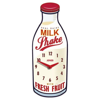 Jones® Clocks Milk Shake Wall Clock
